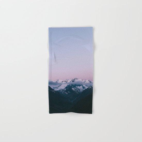 Sunset Mountains (pastel) Hand & Bath Towel