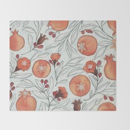 Young Pomegranates Throw Blanket