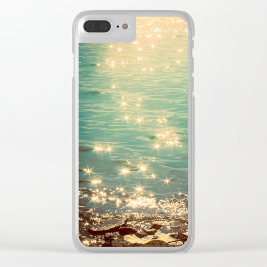 Showering in Sparkling Sunshine Clear iPhone Case