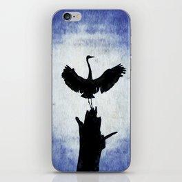 Blue Heron with Wings Spread iPhone Skin