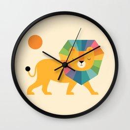 Lion Shine Wall Clock