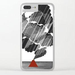 Little Red Volcano Clear iPhone Case