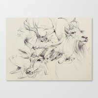 antlers Canvas Prints featuring Antlers by Brian Jarrell