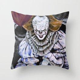 IT Clown Throw Pillow