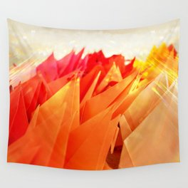 Senbazuru | shades of  orange Wall Tapestry