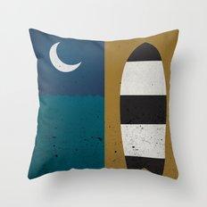 Board & Moon Throw Pillow