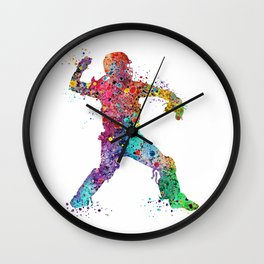 Baseball Softball Catcher 3 Art Sports Poster Wall Clock