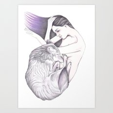 Sleeping Wolves Art Print