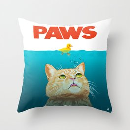 Paws! Throw Pillow