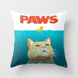 Paws! Throw Pillow