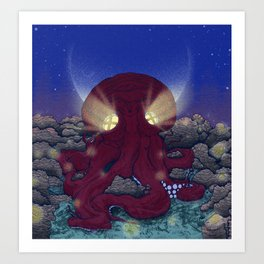 Night at the Octopus House Art Print