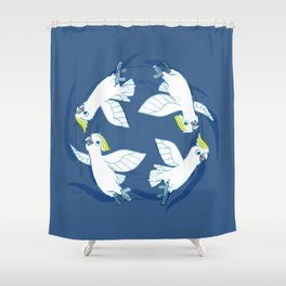 Cockatoo Angels (Blue) Shower Curtain