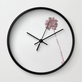 Pink Palm Tree Wall Clock
