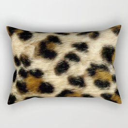 Leopard Print Pattern Animal Print Design Rectangular Pillow