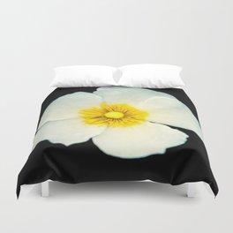 white dune flower Duvet Cover