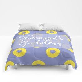 Fineapple Goddess Comforters