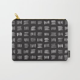 Lines on Lines // White Carry-All Pouch