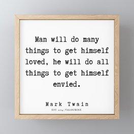 68   | Mark Twain Quotes | 190730 Framed Mini Art Print
