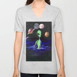 alien alone Unisex V-Neck
