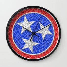 Tennessee Tri Star Mosaic Wall Clock