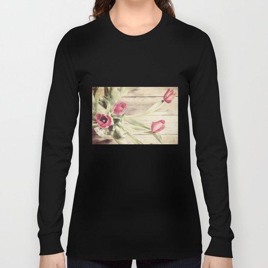 rustic tulips Long Sleeve T-shirt