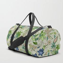 Alpine Flowers - Gentian, Edelweiss Duffle Bag