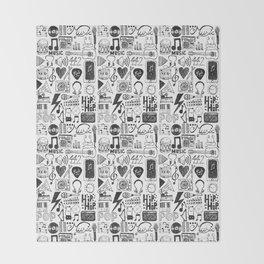 Music Doodles Throw Blanket
