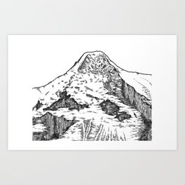 Eiger North Wall Art Print