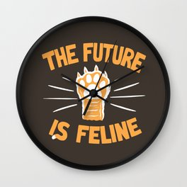 THE T/ME /S MEOW Wall Clock