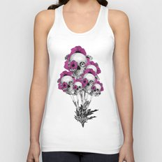 Evolution of poppies, skull pattern.  Unisex Tank Top