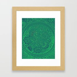 Flower background in green and gradient color, ready for clothes, furniture, cases Framed Art Print