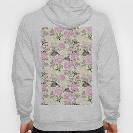 Vintage & Shabby Chic - Lush pastel roses and hummingbird pattern Hoody