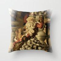 santa Throw Pillows featuring Santa by Cindy Munroe Photography