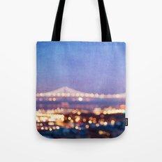 BAY BRIDGE GLOW - San Francisco Tote Bag