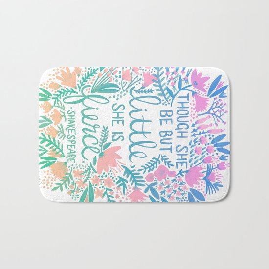 Little & Fierce – Lavender Mint Ombré Bath Mat