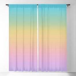 Pastel Rainbow Ombre Gradient Blackout Curtain