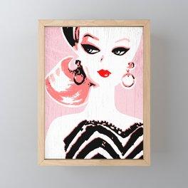 Classic Barbie Framed Mini Art Print