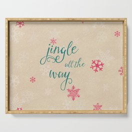 jingle all the way Serving Tray