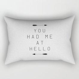 You Had Me At Hello Arrow Rectangular Pillow