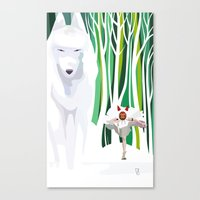 princess mononoke Canvas Prints featuring Princess Mononoke by youcoucou