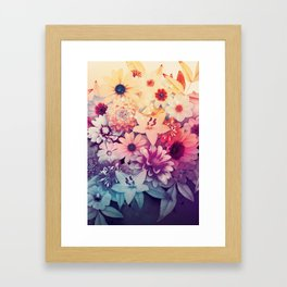 Hipster Flowers Framed Art Print