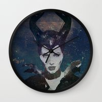maleficent Wall Clocks featuring Maleficent by Esco