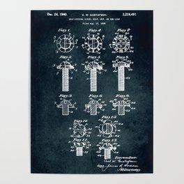 1939 - Self-locking screw, bolt, nut, like Poster