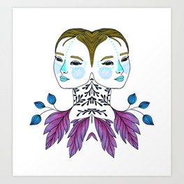 Gemini Girl Art Print