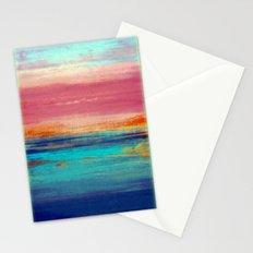 Retro Sunset Stationery Cards