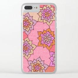 zakiaz hot pink lotus Clear iPhone Case