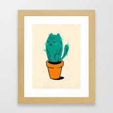 Cat-tus Framed Art Print