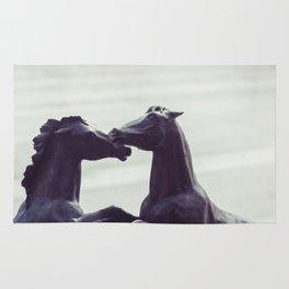 Bronze Horses - Sheridan, WY Rug