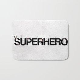 Superhero - gray wallpapers Bath Mat