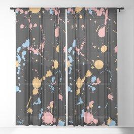 Spatter Sheer Curtain